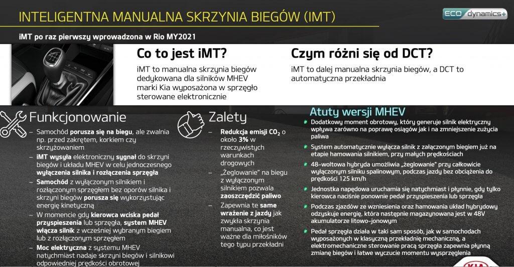 Kia Stonic po faceliftingu intelingetna manualna skrzynia biegów (IMT)